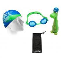 Kit Para Natação Splash Azul Speedo - Speedo