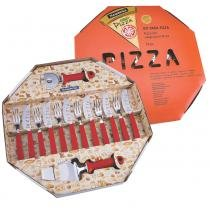 Kit para Pizza 14 Peças Vermelho - Tramontina - Vermelho - Tramontina