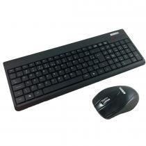 Kit Teclado e Mouse Wireless USB Preto KA-0328/MA-P433 - K-Mex - K-Mex
