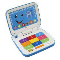 Laptop Azul Fisher Price Aprender e Brincar - Mattel - Fisher Price