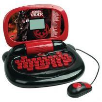 Laptop Infantil Star Wars Darth Vader - 30 Atividades Emite Sons Candide