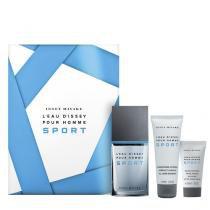 Leau DIssey Pour Homme Sport Eau de Toilette Issey Miyake - Kit de Perfume Masculino 50ml + Gel de Banho 75ml + Loção Pós Barba 30ml - Issey Miyake