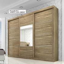 Leblon Slide Glass 3 portas - Rovere/Vanilla/Rovere - Panan