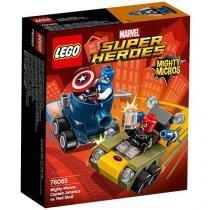 LEGO Super Heroes Poderosos Micros Capitão América - Contra Caveira Vermelha 4111176065 95 Peças