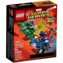 LEGO Super Heroes Poderosos Micros: Homem-Aranha - Contra Duende-Verde 4111176064 85 Peças