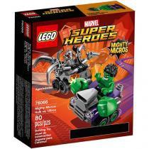 LEGO Super Heroes Poderosos Micros - Hulk contra Ultron 4111176066 80 Peças