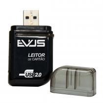 Leitor de Cartão Externo para SD/Mini SD/MS/T-Flash Preto LC-01 - Evus - Evus