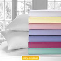 Lençol Casal com Elástico Avulso 1 Peça 150 Fios - Pink - Santista