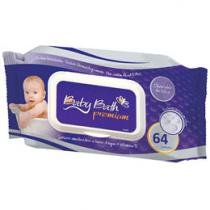 Lenços Umedecidos Brasbaby Baby Bath Premium 64 Lenços