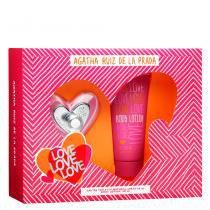 Love Love Love Eau de Toilette Agatha Ruiz de La Prada - Perfume Feminino + Loção Corporal - Agatha Ruiz de La Prada