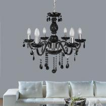 Lustre Chanel Cristal vidro e Metal Preto- Markine Mobilier - Premier Iluminação
