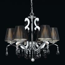 Lustre em Metal Cromado e Cristais Preto P83986 - Markine Mobilier-Bivolt - Pier Iluminação