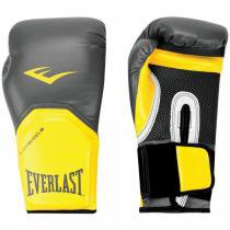 Luva Boxe Everlast Pro Style Elite Training 16 OZ - 1200861 Preto/Amarelo - Everlast