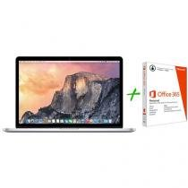 "Macbook Pro Retina 15,4"" Apple MJLT2BZ/A Prata - OS X Yosemite + Pacote Office 365 Personal"