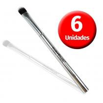Macrilan Kit com  6 Pincéis p/ Sombra Linha Silver - S-04 - Macrilan