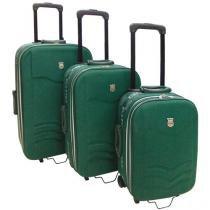 Mala de Viagem Batiki Verde - 3 Peças