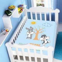 Manta Microfibra Looney Tunes Baby Having Fun Azul - Jolitex - Azul - Jolitex