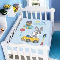 Manta Microfibra Looney Tunes Baby On The Road - Jolitex-Azul - Azul - Jolitex