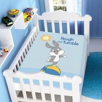 Manta Microfibra Looney Tunes Baby Rough and Tumble Azul - Jolitex - Azul - Jolitex