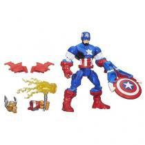 Marvel Super Hero Mashers - Capitão América - com Acessório - Hasbro