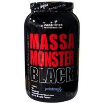 Massa Monster Black 1,5Kg Morango - Probiótica