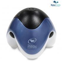 Massageador Portátil com Alimentação USB e Iluminação, Azul, PM-30RCH - RelaxMedic - Pilhas - Relaxmedic
