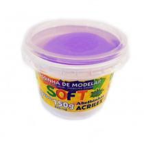 Massinha para Modelar 150g Soft Acrilex - Violeta - Acrilex