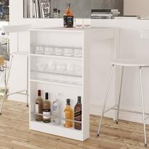 Mesa Balcão para Cozinha/Bar Ilhéus 3 Prateleiras - Politorno