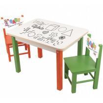 Mesa com 2 Cadeiras Baby Rabisco de Iniciação 1923 - Carlu - Carlu