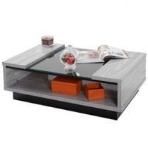 Mesa de Centro com tampo de vidro Dj móveis - Candeias
