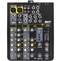 Mesa de Som 6 Canais com USB VZ-6.2 220V - SKP - SKP