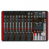 Mesa de Som Amplificada 12 Canais NVK-1200P USB 600W - Novik - Novik
