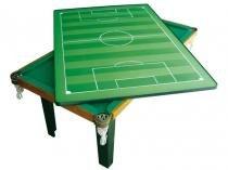 Mesa Multiuso 4 em 1 Klopf c/ Kit Sinuca - Sinuca, Ping-Pong, Futebol de Botão e Refeições