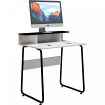 Mesa para Computador Compacta JOBBRPR Branca/Preta - Multivisão - Multivisão