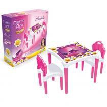 Mesinha Infantil Casinha Flor com 2 Cadeiras 4954 - Xalingo - Xalingo
