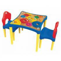 Mesinha Infantil Oficina de Criações com 2 Cadeiras 4955 - Xalingo - Xalingo