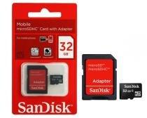 Micro Cartão de Memória Sandisk 32GB com Adaptador - Sandisk
