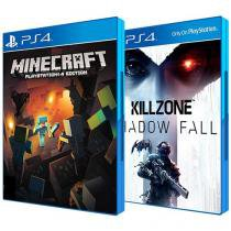 Minecraft Mojang + Killzone Shadow Fall Sony - para PS4