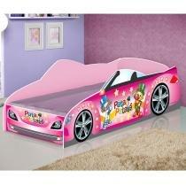 Mini Cama Carro Star - Patati Patatá Rosa - JA Móveis