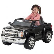 Mini Carro Elétrico Infantil Pickup Chevy - Silverado com Controle Remoto Emite Sons Biemme