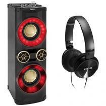 Mini Hi-Fi System Philips NTX600X/78 - 2200W Auto DJ Bluetooth MP3 Rádio FM
