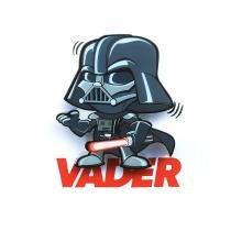 Mini Luminária para Parede Star Wars Darth Vader - Pilhas - 3D Light FX