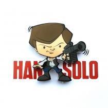 Mini Luminária para Parede Star Wars Han Solo - 3D Light FX