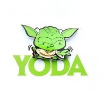Mini Luminária para Parede Star Wars Yoda - 3D Light FX