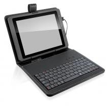 "Mini Teclado Multilaser Slim USB Capa Tablet 8"" Preto - TC156 - Neutro - Multilaser"