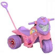 Moto Elétrica Infantil Ban Princesas Disney Rosa/Roxo 2442 - Bandeirante - Bandeirante