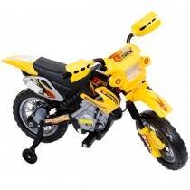 Moto Elétrica Infantil com Farol e Buzina Amarela 925900 - Belfix - Belfix
