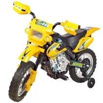 Moto Elétrica Infantil Motocross Amarela 245 - Homeplay - Homeplay