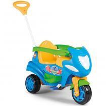 Moto Infantil Max 2 em 1 com Buzina Azul 946 - Calesita - Calesita