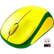 Mouse sem fio Wireless M317 Verde/Amarelo - Logitech - Logitech